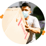 local mover with mask on following masking protocol during a local move