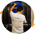 easy relocation mover loading items onto an elevator