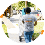 Pro mover from Easy Relocation using a hand truck