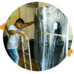 moving furniture with a hand truck