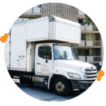 Easy Relocation Moving Truck outside apartments