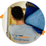Easy Relocation mover packing with blankets
