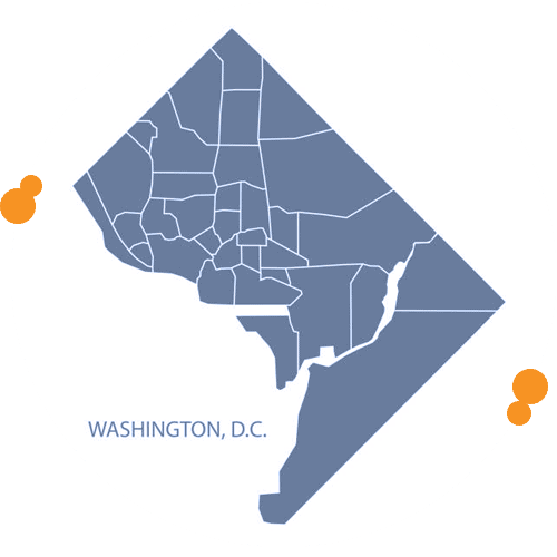 Easy Relocation map area of washing DC service area